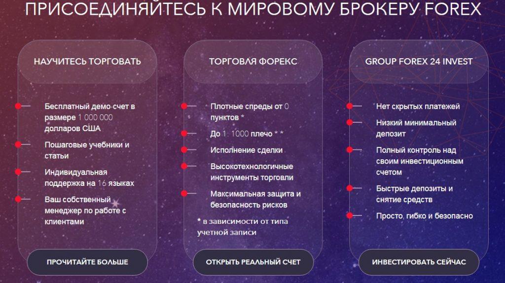 Услуги от Group Forex 24